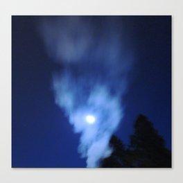Smokey Moon Canvas Print