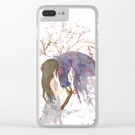 A Piece of her Soul Watercolor Clear iPhone Case