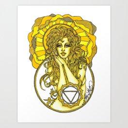 Solar Plexus Chara Art Print