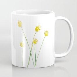 Yellow Billy Button Flowers Coffee Mug