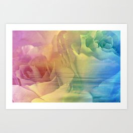 Rainbow Rose Water Abstract Art Print