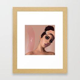 //amber Framed Art Print