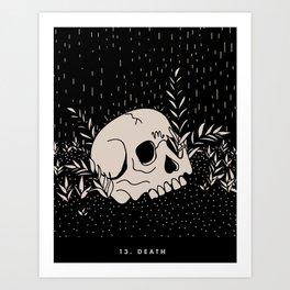 13. DEATH Art Print