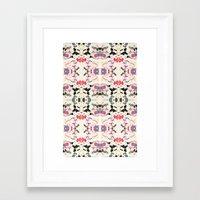 rorschach Framed Art Prints featuring Rorschach by Zephyr