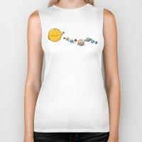 planets Biker Tanks featuring Planets by awkwardyeti
