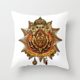 Keep Korma and Curry On Throw Pillow