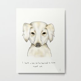 alice the dog Metal Print