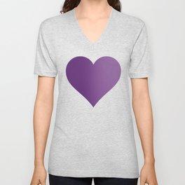 Violet Purple and Velvet Purple Ombré Gradient Abstract Unisex V-Neck