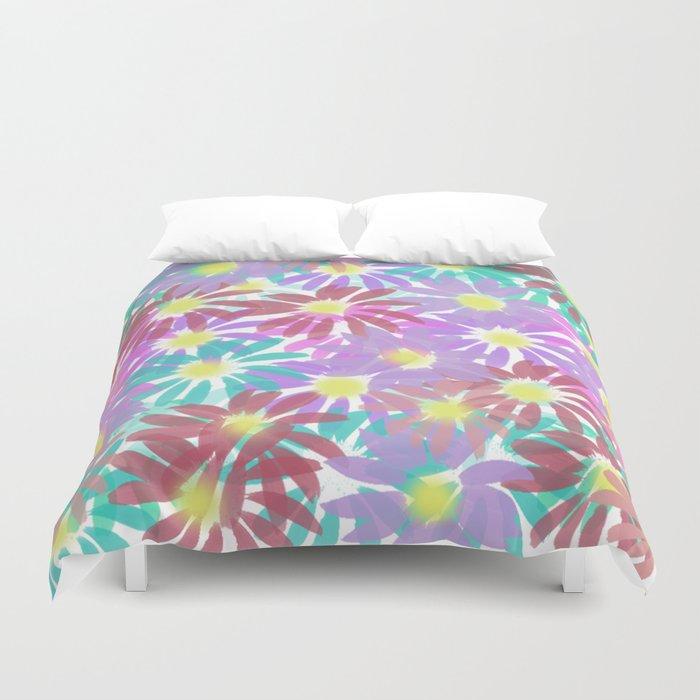 Painterly Floral Explosion Duvet Cover