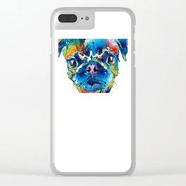 Colorful Pug Art - Smug Pug - By Sharon Cummings Clear iPhone Case