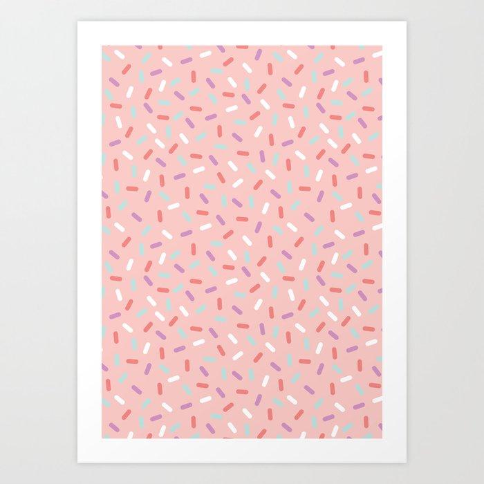 Pink Sprinkle Confetti Pattern Kunstdrucke