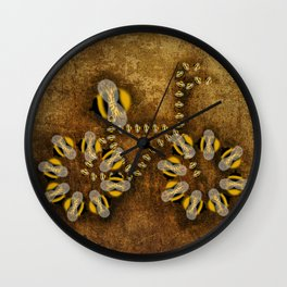 A Bike of Bees Wall Clock