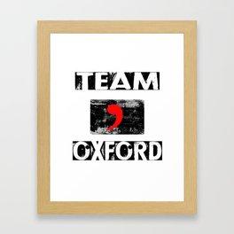 Team Oxford Framed Art Print