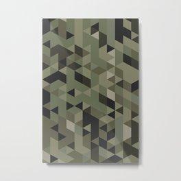 Isometric Camo Metal Print