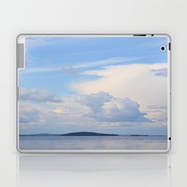 Blue Lakescape With White Clouds In The Blue Sky #decor #society6 Laptop & iPad Skin