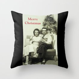 Merry Christmas from us to you, from past to present Throw Pillow