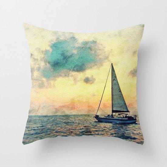 Sailing Along Throw Pillow