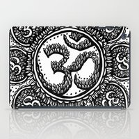 ohm iPad Cases featuring Ohm Symbol Flower Tattoo by Emma Lettera