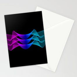 Gradient Lines Abstract 2 Stationery Cards