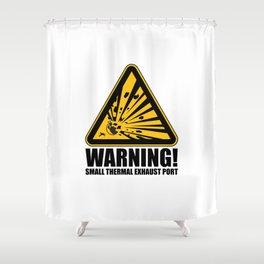 Obvious Explosion Hazard Shower Curtain