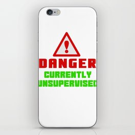 This is the best and funniest tee shirt that's perfect for you Danger iPhone Skin