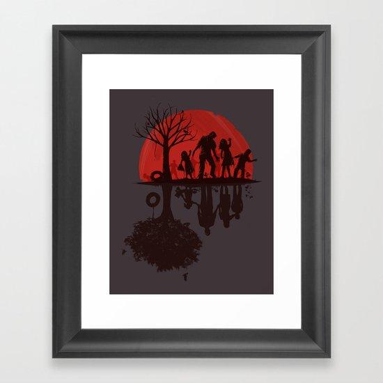 A Family Once (dark version) Framed Art Print