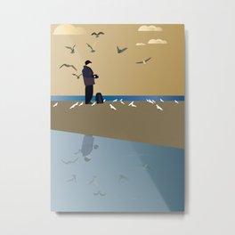 Photographer on the beach Metal Print