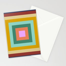 Polychrome Colored Squares Stationery Cards