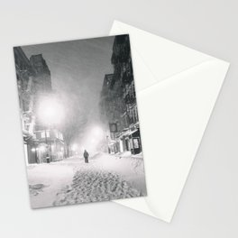 Alone in a Blizzard - New York City Stationery Cards