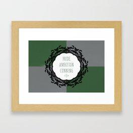 Slytherin Pride Framed Art Print