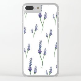 Lavender Sprigs Clear iPhone Case
