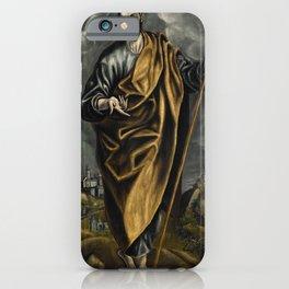 """El Greco (Domenikos Theotokopoulos) """"St. Judas Thaddaeus or St. Thomas"""" iPhone Case"""