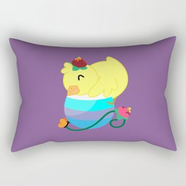 Spring Chicken - Hugging An Egg Rectangular Pillow