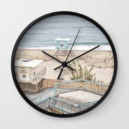 Lifeguard Tower 36, Carlsbad Wall Clock