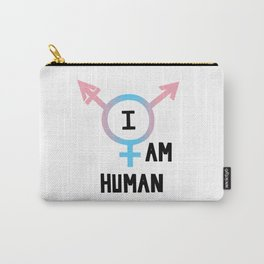 I Am Human Carry-All Pouch