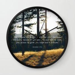 Golden Jeremiah 29:11 Wall Clock