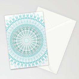 Turquoise White Mandala Stationery Cards