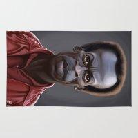 miles davis Area & Throw Rugs featuring Celebrity Sunday ~ Miles Dewey Davis by rob art | illustration