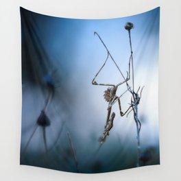 Alien praying mantis Wall Tapestry
