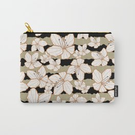 Floral Stripe 12 Carry-All Pouch