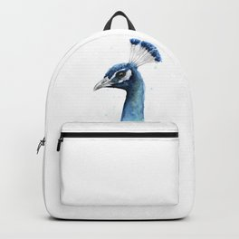 Peacock Watercolor Exotic Bird Animals Backpack
