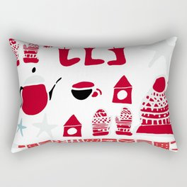 winter gear white Rectangular Pillow