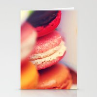 macaroons Stationery Cards featuring Macaroons by Sushibird