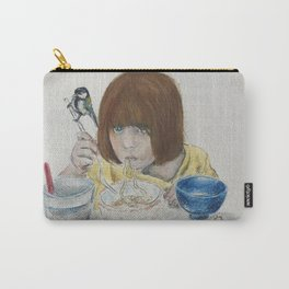 Girl with Noodles Carry-All Pouch