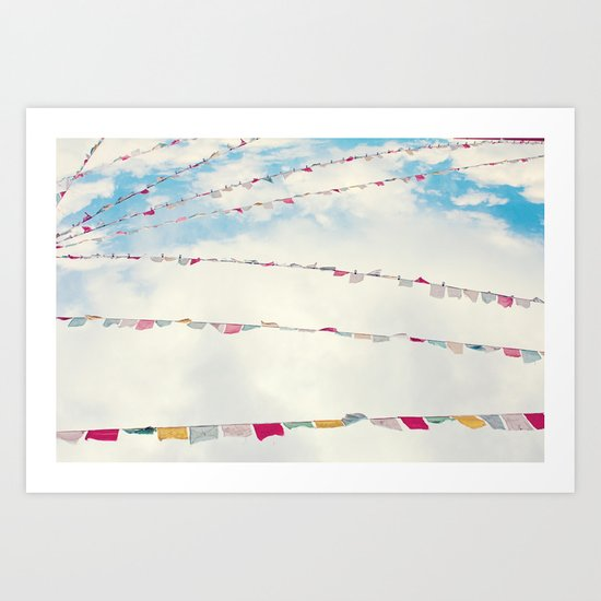 prayer flags no. 1 Art Print