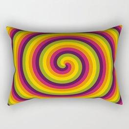 Hued Helicoids Rectangular Pillow