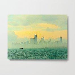 Foggy Skyline #2 Metal Print
