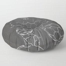 Soccer Ball Patent - Football Art - Black Chalkboard Floor Pillow
