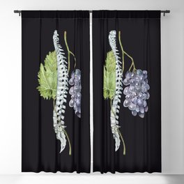Spine with Grapes: Human Anatomy, Backbone Skeleton Blackout Curtain