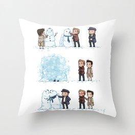Shipping Snowmen, Advent 2012 Throw Pillow